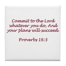 Commit to the Lord Tile Coaster