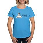 Too Fond of Books (LM Alcott) Women's Dark T-Shirt