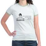 Too Fond of Books (LM Alcott) Jr. Ringer T-Shirt