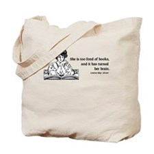 Too Fond of Books (LM Alcott) Tote Bag