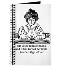 Too Fond of Books (LM Alcott) Journal