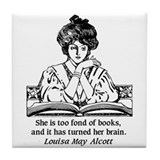 Louisa may alcott Tile Coasters