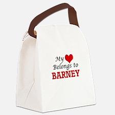 My heart belongs to Barney Canvas Lunch Bag