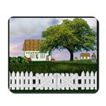 Rural Cottage Scene Mousepad