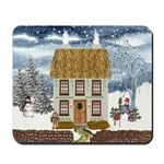 Winter Cottage Mousepad