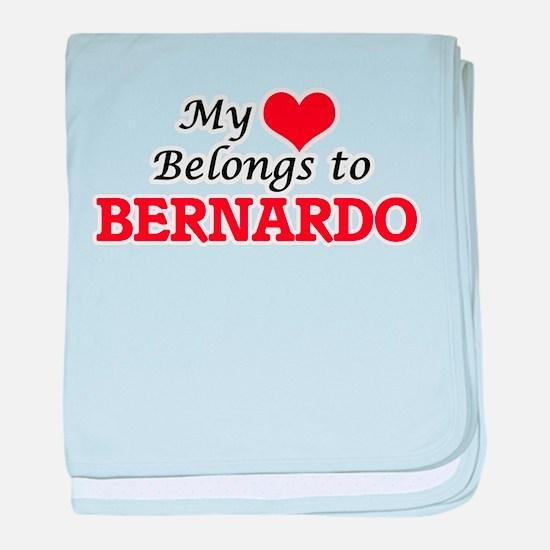 My heart belongs to Bernardo baby blanket