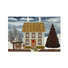 Merry Christmas Cottage Magnets (10 pack)