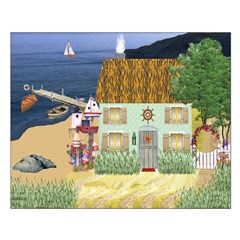 Lakeside Cottage Unframed Print