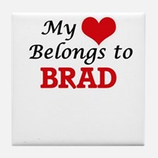 My heart belongs to Brad Tile Coaster