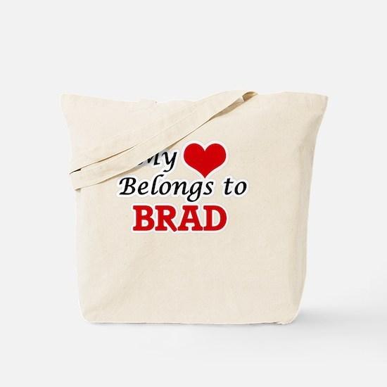 My heart belongs to Brad Tote Bag