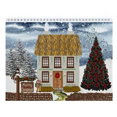 Country Village Cottages (12 Scenes) Wall Calendar