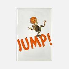 Basketball Jump Frog Rectangle Magnet