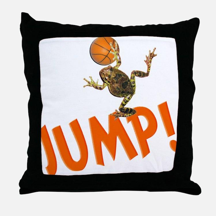 Basketball Jump Frog Throw Pillow