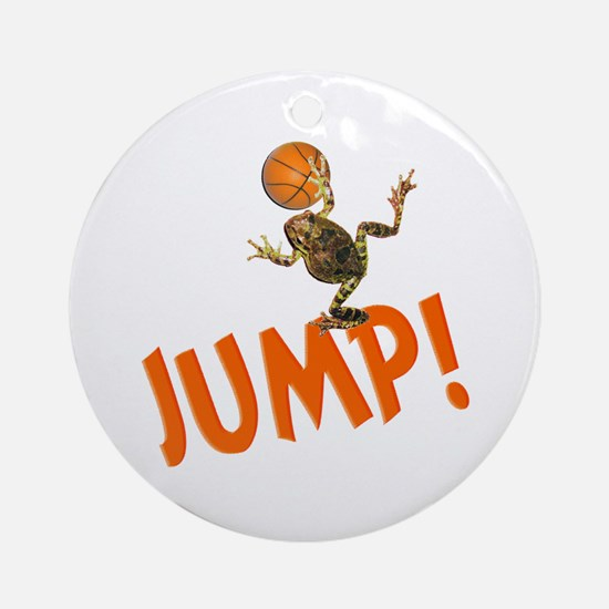 Basketball Jump Frog Ornament (Round)