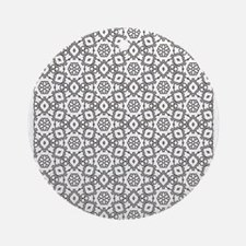 seamless pattern,adult colouring,pa Round Ornament