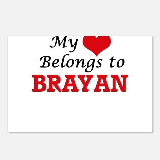 My heart belongs to Braya Postcards (Package of 8)