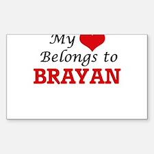 My heart belongs to Brayan Decal