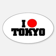 I (HEART) TOKYO Oval Decal