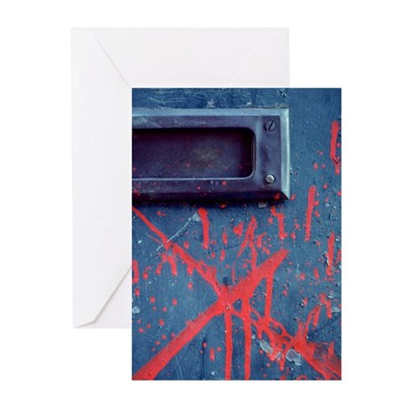 Mail Slot Red X Greeting Cards (Pk of 10)