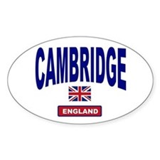 Cambridge England Oval Decal