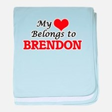 My heart belongs to Brendon baby blanket