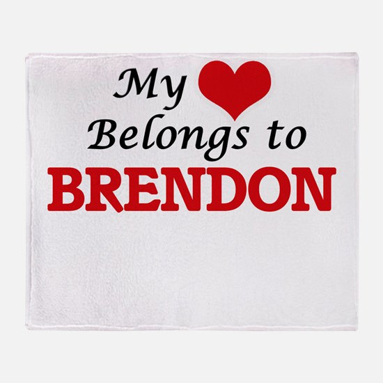 My heart belongs to Brendon Throw Blanket