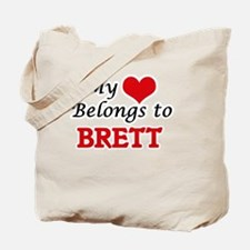 My heart belongs to Brett Tote Bag