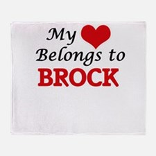 My heart belongs to Brock Throw Blanket