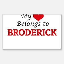 My heart belongs to Broderick Decal