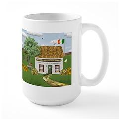 St. Patrick's Day Cottage Large Mug