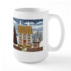 Merry Christmas Cottage Large Mug