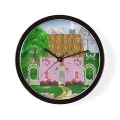 Honeymoon Cottage Wall Clock