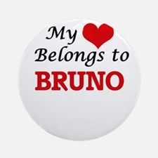 My heart belongs to Bruno Round Ornament