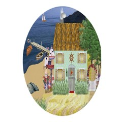 Lakeside Cottage Oval Ornament