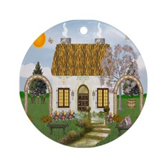 Sunshine Cottage Ornament (Round)