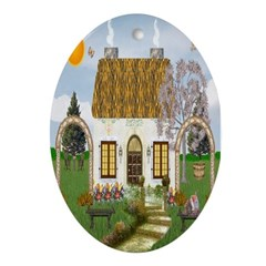 Sunshine Cottage Oval Ornament
