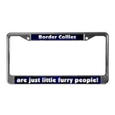 Furry People Border Collie License Plate Frame
