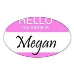 Megan Oval Sticker