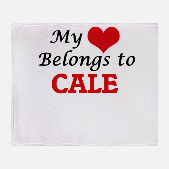 My heart belongs to Cale Throw Blanket