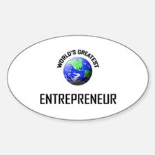 World's Greatest ENTREPRENEUR Oval Decal