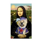 Mona / Cairn T (brin) Sticker (Rectangle)