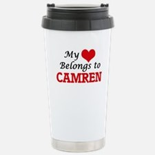 My heart belongs to Cam Travel Mug