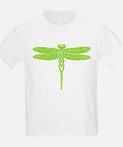 Celtic Dragonfly - Pond Green T-Shirt