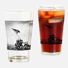 Unique Iwo jima flag raising Drinking Glass