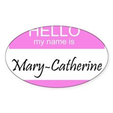 Mary-Catherine Oval Decal