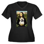 Mona /Cairn T Women's Plus Size V-Neck Dark T-Shir