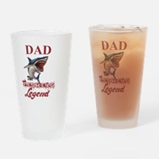Cute Dad hunting legend Drinking Glass