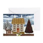 Merry Christmas Cottage Cards (Pk of 10)