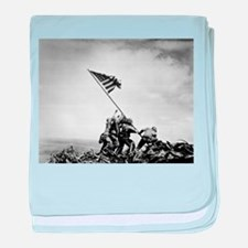 Iwo Jima, raising the flag baby blanket
