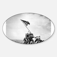 Iwo Jima, raising the flag Decal
